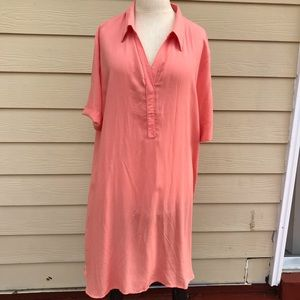 JUSTFAB women's  orange Dress sz XXL.